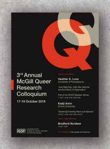CFP: McGill Queer Research Colloquium