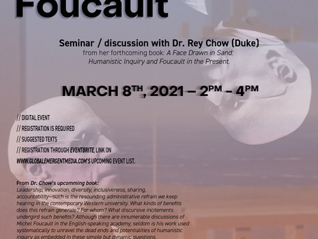 Upcoming Event: Seminar w/ Rey Chow (Duke) - Thinking Race with Foucault @ GEM Lab