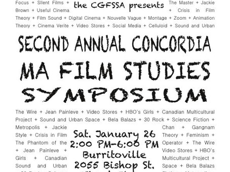 Second Annual M.A. Film Studies Symposium