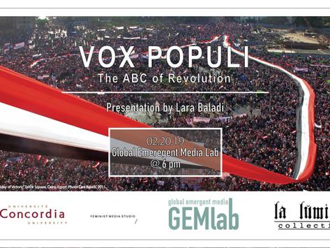 Upcoming Event: VOX Populi: the ABC of Revolution, a presentation by Lara Baladi