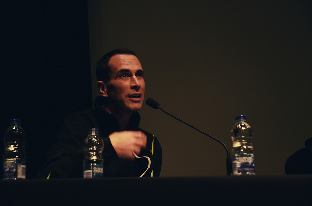 John Greyson responds to a question from the audience