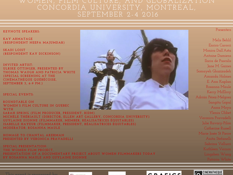 Women, Film Culture, and Globalization: An International Conference @ Concordia, September 2-4