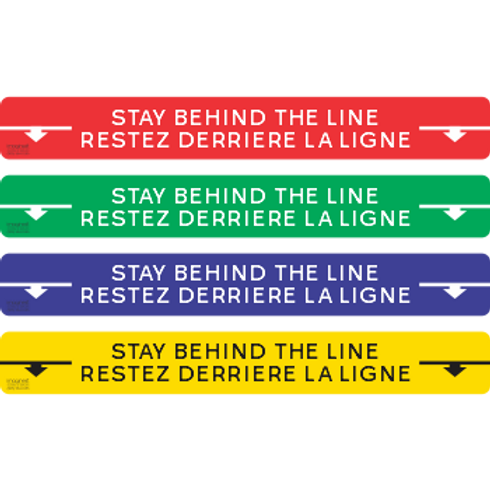 Stay Behind The Line - Letters and Arrow EN FR (5 per pack)