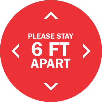 Please Stay 6ft Apart - Solid (5 per pack)