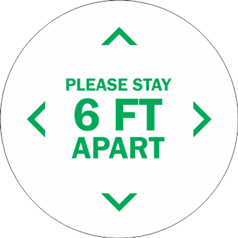 Please Stay 6ft Apart - Line (5 per pack)