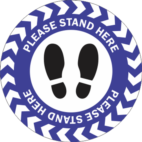 Please Stand Here - Shoes (5 per pack)