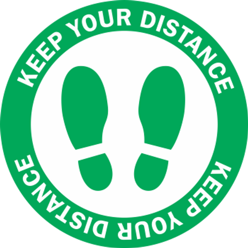 Keep Your Distance - Shoes Color (5 per pack)
