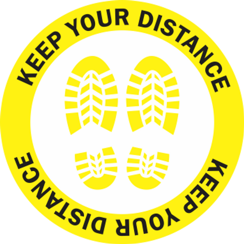 Keep Your Distance - Boots Color (5 per pack)