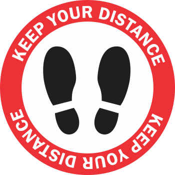 Keep Your Distance - Shoes (5 per pack)