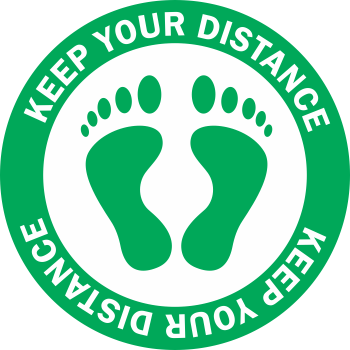 Keep Your Distance - Feet Color (5 per pack)