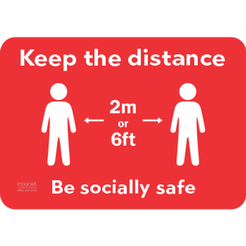 Keep the distance Be socially safe