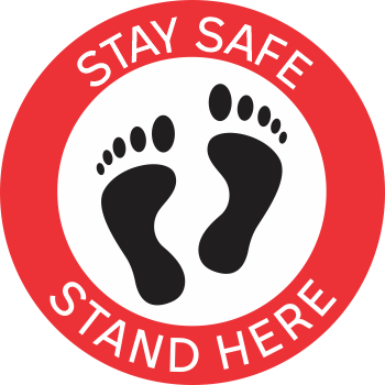 Stay Safe Stand Here - Feet (5 per pack)