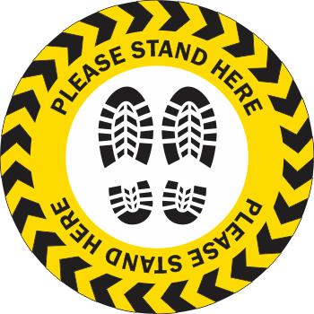 Please Stand Here - Boots (5 per pack)