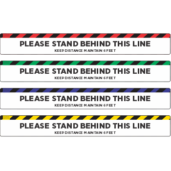 Please Stay Behind The Line - Stripes Top (5 per pack)