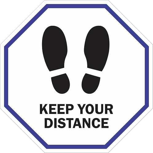 Keep Your Distance - Line Octagon (5 per pack)