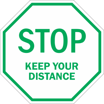 Stop Keep Your Distance - Line Octagon (5 per pack)