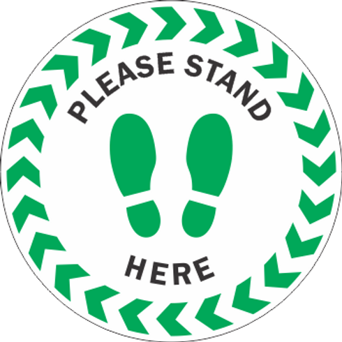 Please Stand Here - Stripes (5 per pack)