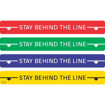 Stay Behind The Line - Letters and Arrows (5 per pack)