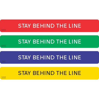 Stay Behind The Line - Letters Only (5 per pack)