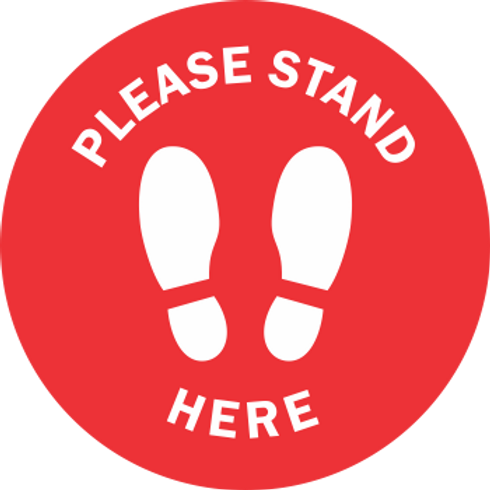Please Stand Here Solid - Shoes (5 per pack)