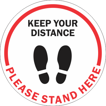 Keep Your Distance Please Stand Here Line - Shoes (5 per pack)