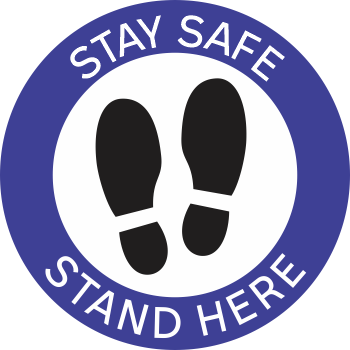 Stay Safe Stand Here - Shoes (5 per pack)