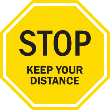 Stop Keep Your Distance - Solid Octagon (5 per pack)