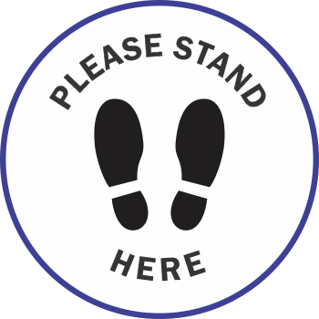 Please Stand Here Line - Shoes (5 per pack)