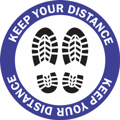 Keep Your Distance - Boots (5 per pack)