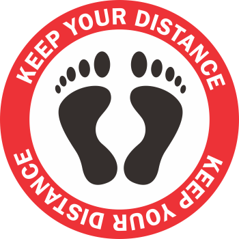 Keep Your Distance - Feet (5 per pack)