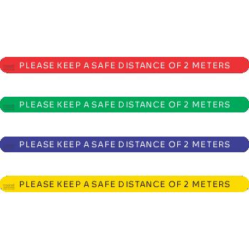 Please Keep Distance 2 meters (5 per pack)