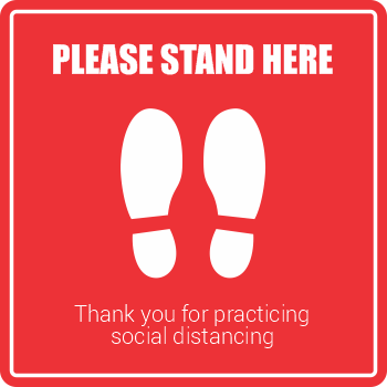 Please Stand Here - Square Shoes (5 per pack)
