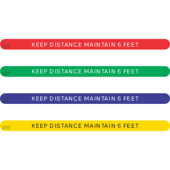 Keep Distance Maintain 6 feet (5 per pack)