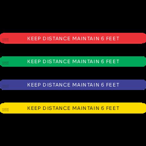 Keep Distance Maintain 6 feet (5 per pack)