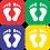 Thumbnail: Simple - Feet (5 per pack)