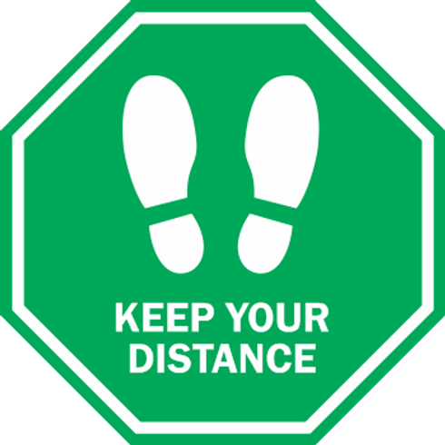 Keep Your Distance - Solid Octagon (5 per pack)