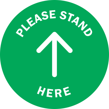 Please Stand Here Solid - Arrow (5 per pack)