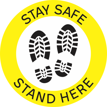 Stay Safe Stand Here - Boots (5 per pack)