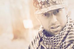 Huss El Sadik onthe set of Warzone