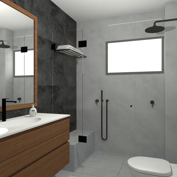 תכנון ועיצוב מקלחת ראשית