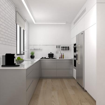 מטבח משודרג בדירת קבלן