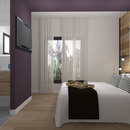 תכנון ועיצוב חדר שינה עם מקלחת הורים