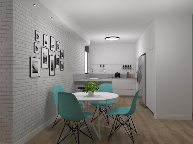 תכנון לשיפוץ כללי לדירה בקרית אונו