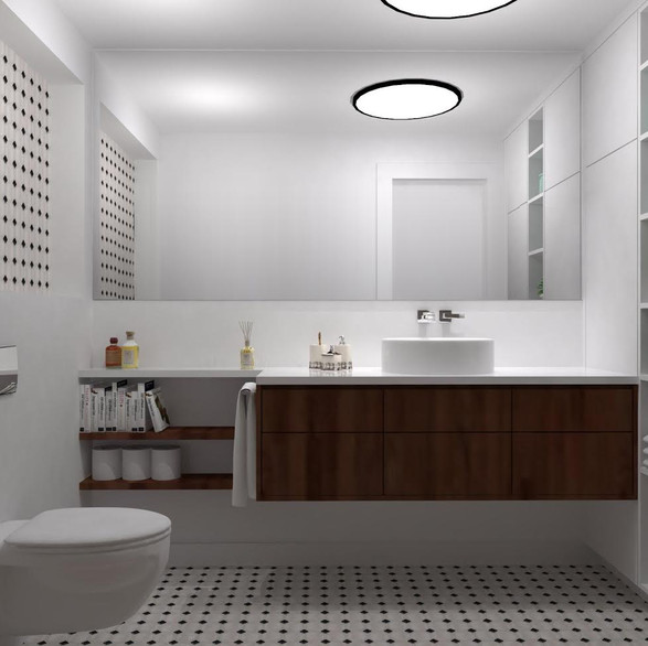 תיכנון ועיצוב שירותי הורים במקום מקלחת הלקוחות ביקשו ארון מרווח