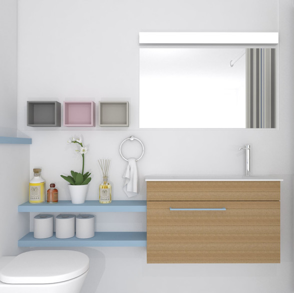תיכנון ועיצוב מקלחת ילדה בדירת קבלן