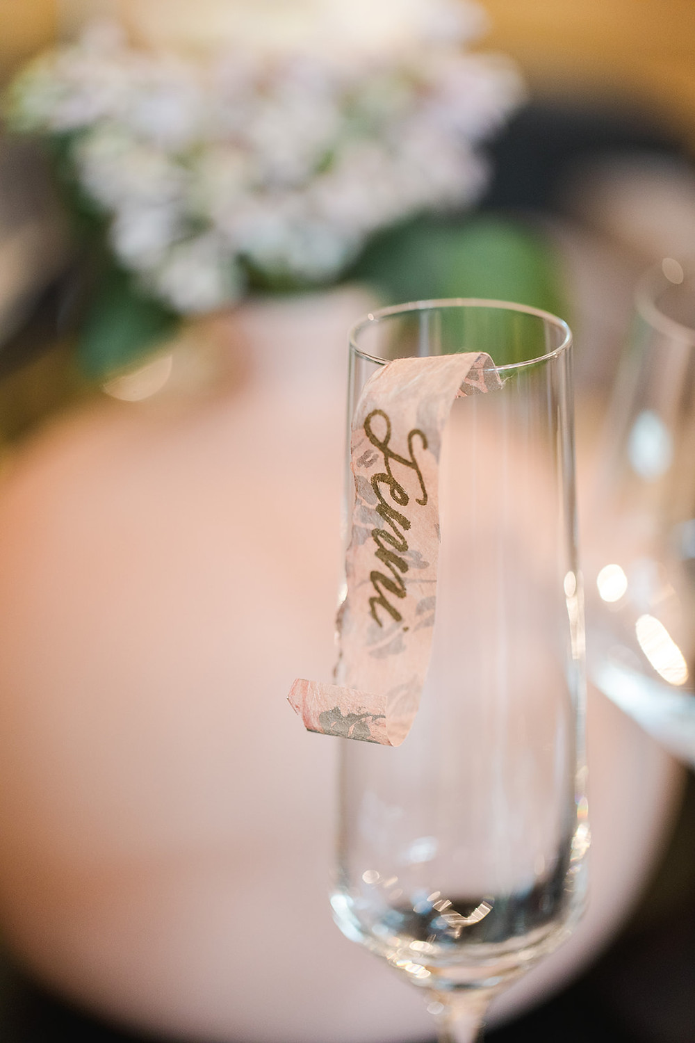 Champagne Scroll Tag