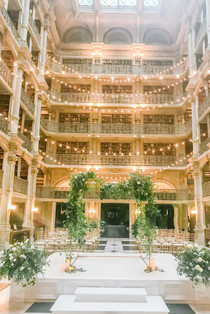 Peabody Library Wedding