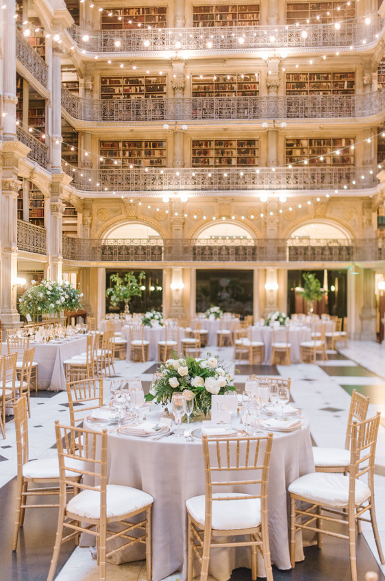 Stunning Peabody Library Wedding