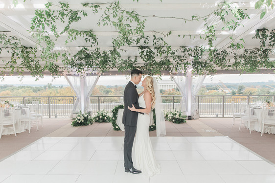 Modern Potomac View Terrace Wedding