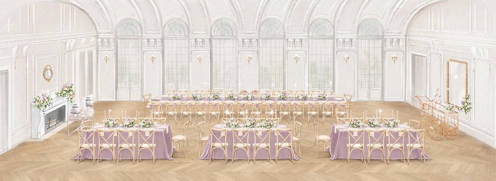 SRS Events DAR Wedding ReceptionSketchDe